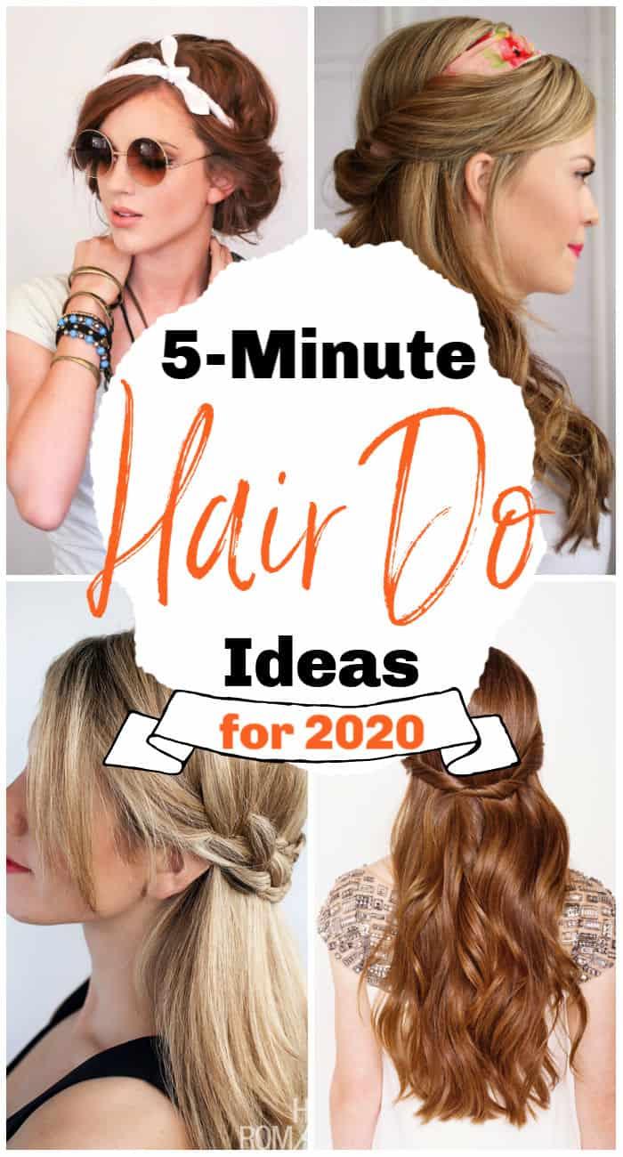 Ideas fáciles de peinado de 5 minutos para 2020