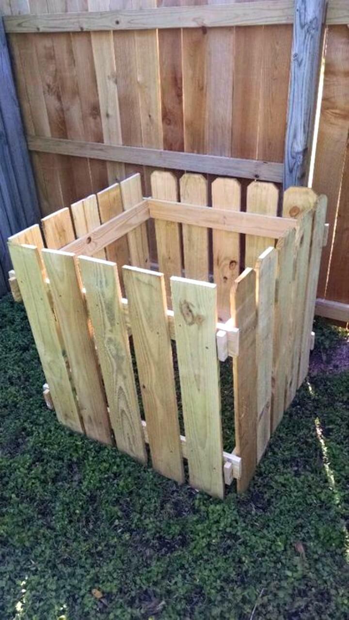 Contenedor de abono para bricolaje fácil y modular: idea de construcción de madera