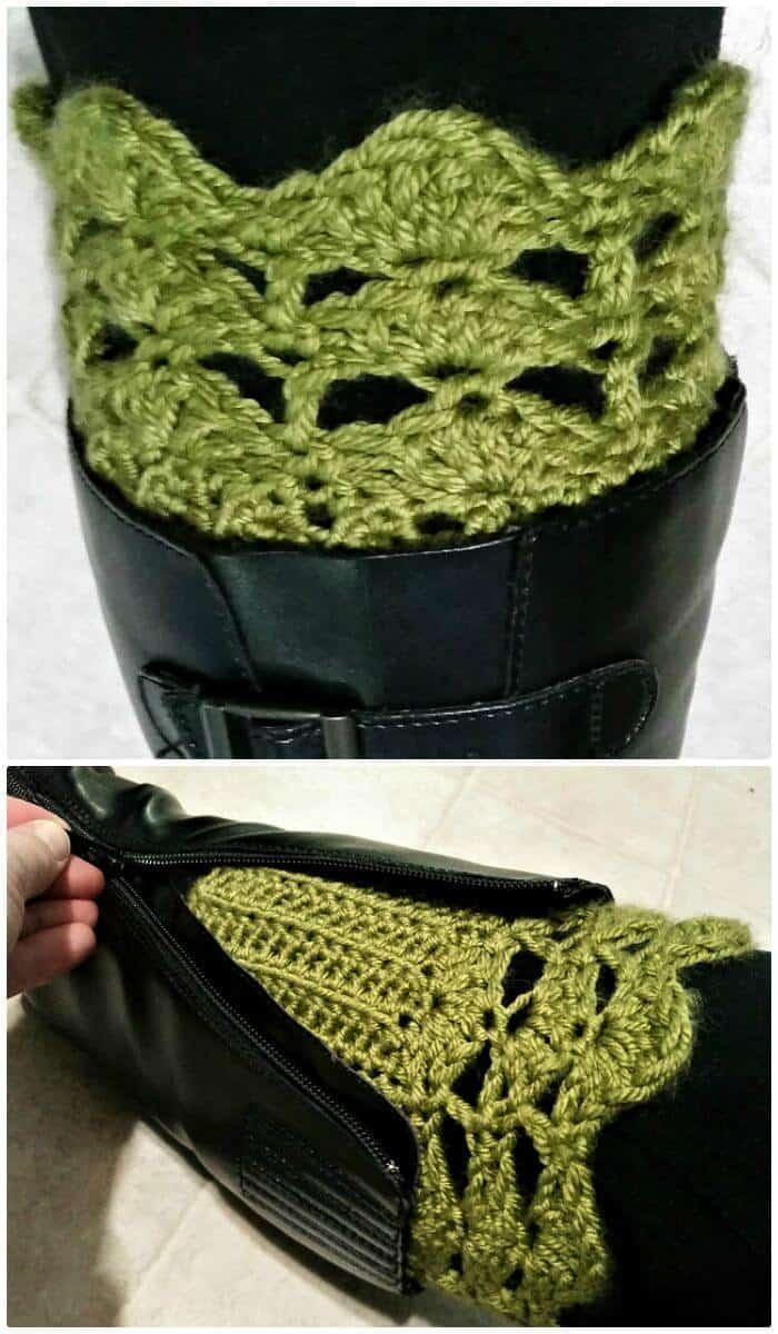 Toppers de bota Belmont fáciles de crochet - Patrón libre