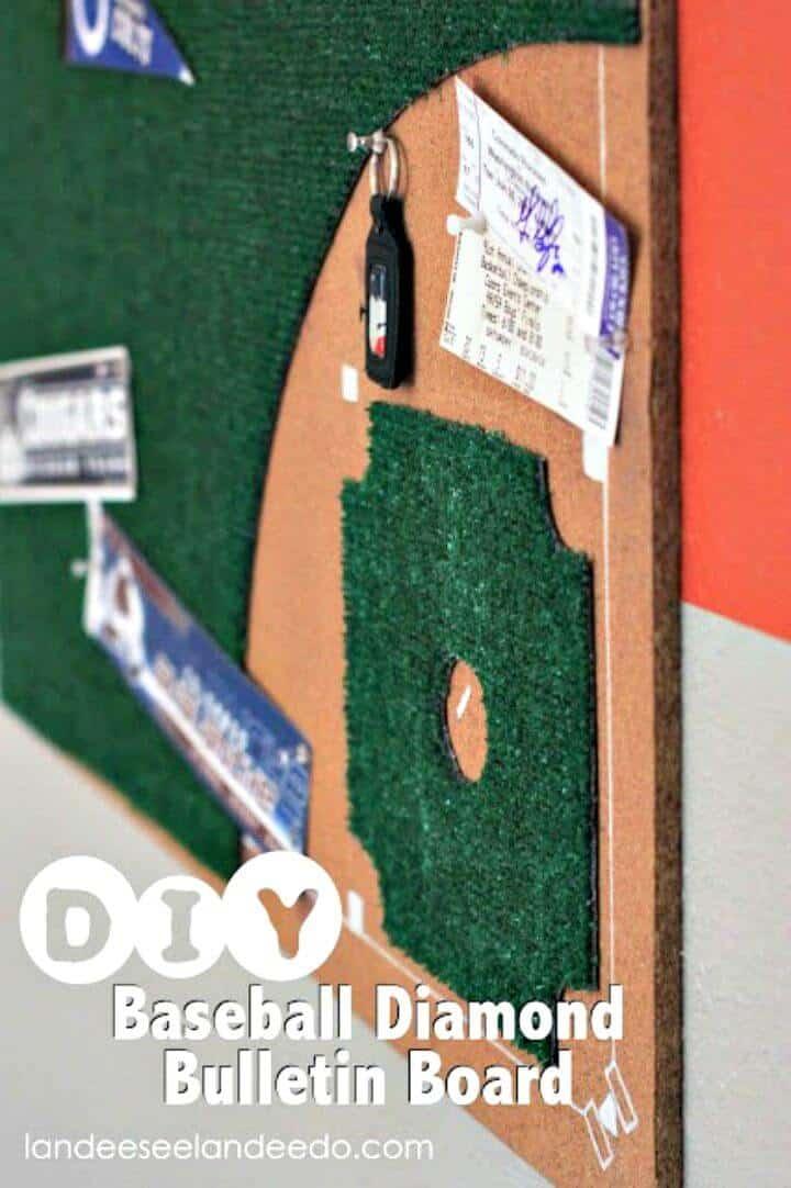 Tablón de anuncios de diamante de béisbol de bricolaje