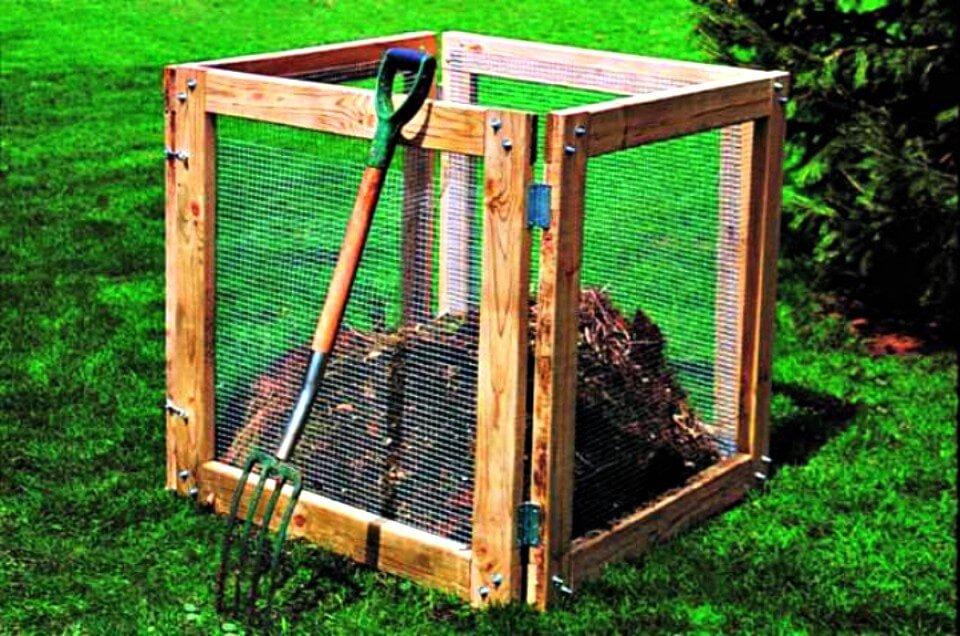 Contenedor de compost fácil de bricolaje para su jardín