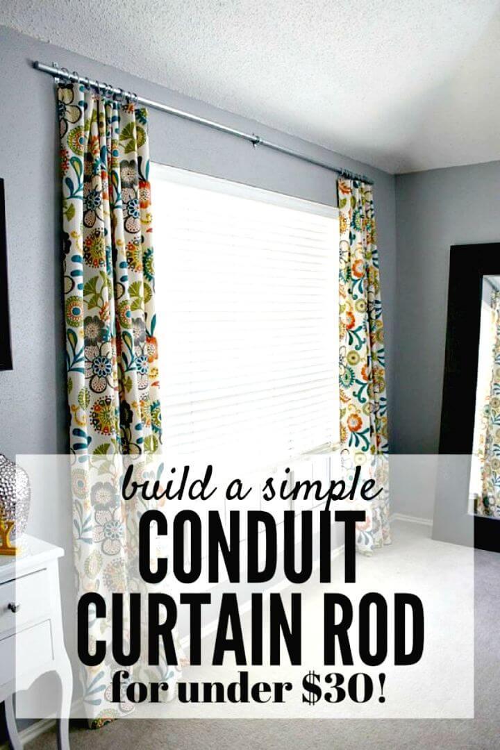 Cómo hacer una barra de cortina de conducto de bricolaje fácil - Tutorial gratuito
