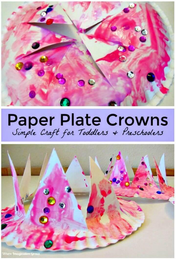 Fácil manualidad de bricolaje con corona para niños