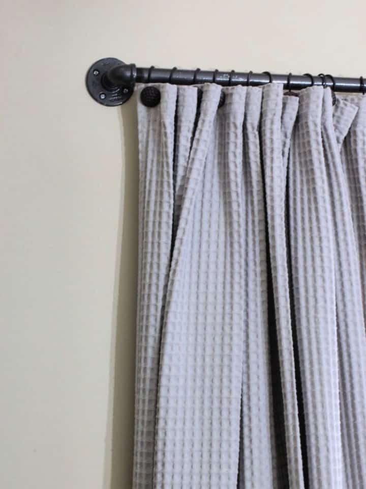 Barras de cortina fáciles de bricolaje