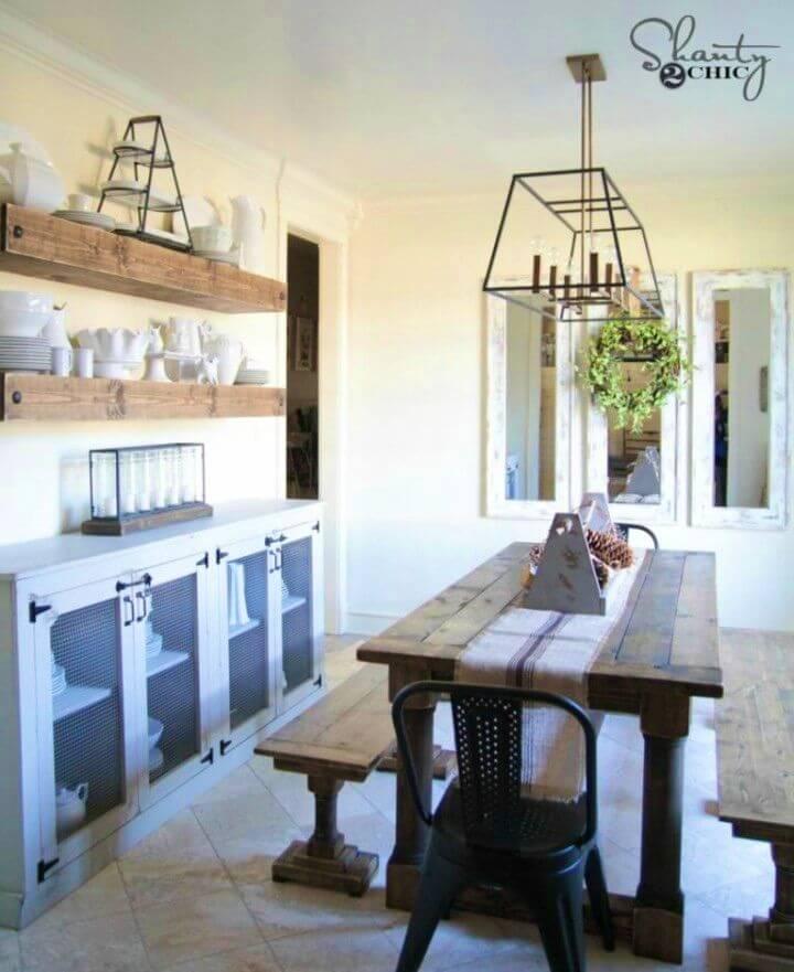 Mesa de comedor fácil de bricolaje con patas torneadas