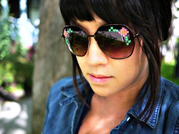 Cómo hacer gafas de sol bordadas - DIY Summer Fashion