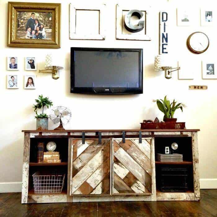 Mesa de entrada de bricolaje fácil - Consola de puerta corrediza Grandy