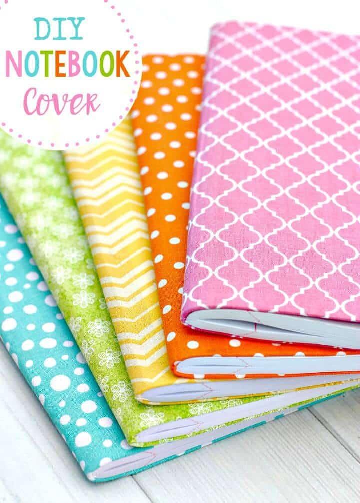 Cómo hacer cubiertas de tela para cuadernos