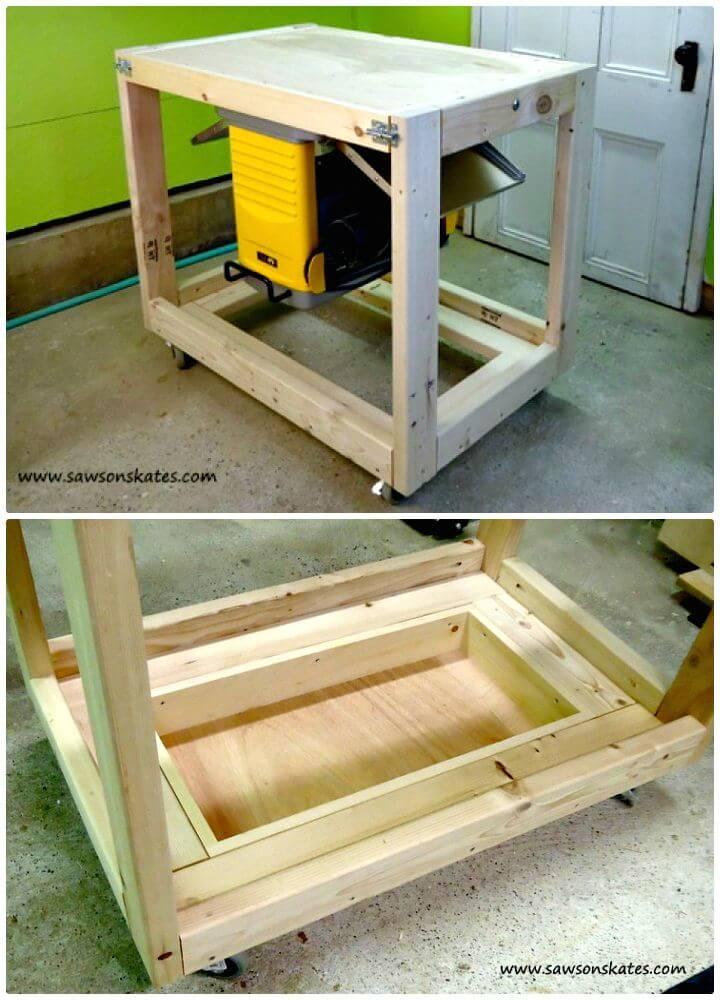 Tutorial fácil de cómo hacer bricolaje con carrito de banco de trabajo plegable
