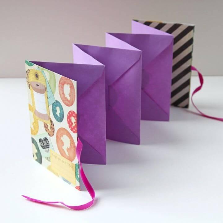 Mini álbum de sobre plegable fácil de bricolaje Mini álbum de sobre plegable fácil de bricolaje