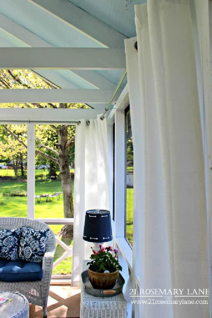 Barra de cortina al aire libre galvanizada fácil de bricolaje