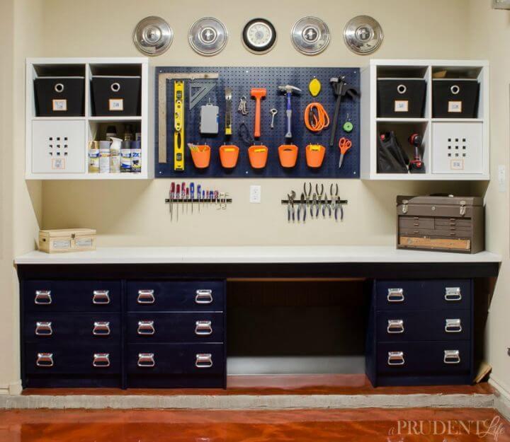 Tutorial sencillo sobre el banco de trabajo de garaje de bricolaje
