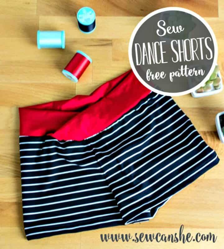 Cómo coser pantalones cortos de baile para niñas