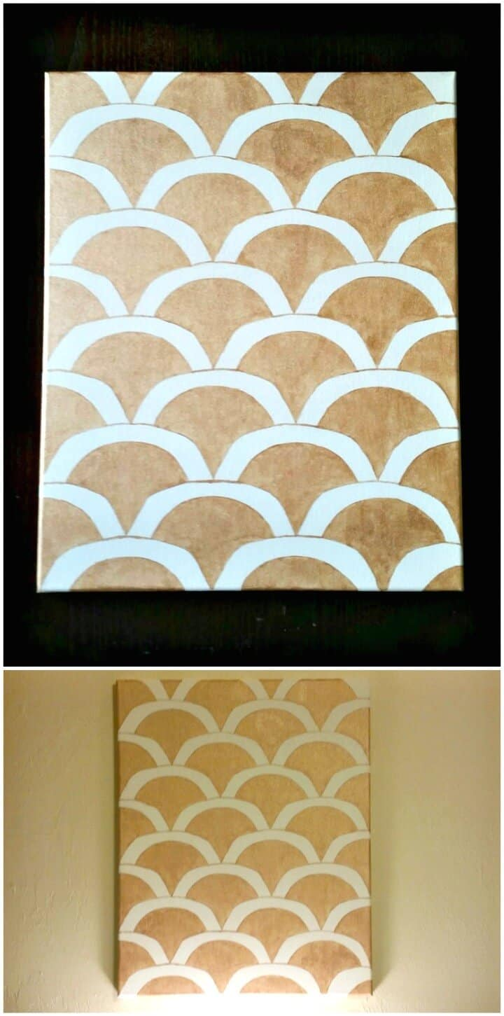 Cómo hacer un tutorial de arte de pared festoneado dorado
