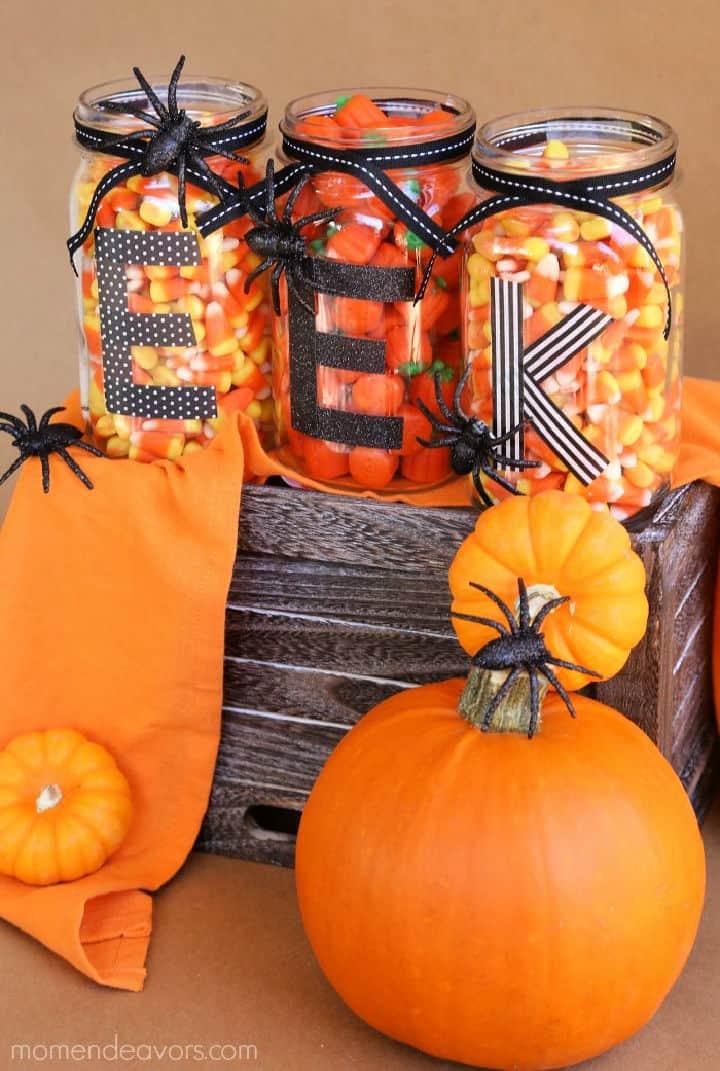 Frascos de albañil fáciles de bricolaje para Halloween