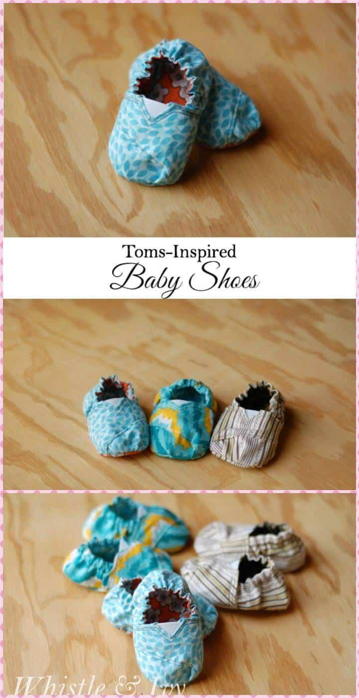 zapatos de bebé hechos a mano inspirados en tom