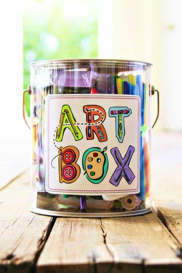 Caja de arte casera fácil de bricolaje