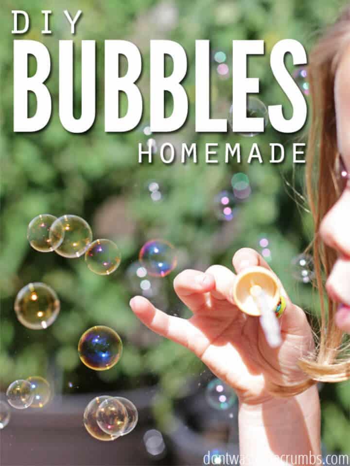 Burbujas caseras fáciles de bricolaje