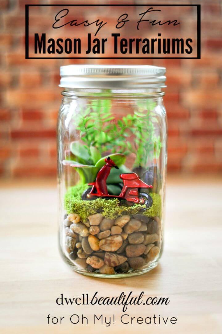 Cómo hacer terrarios en tarro de cristal