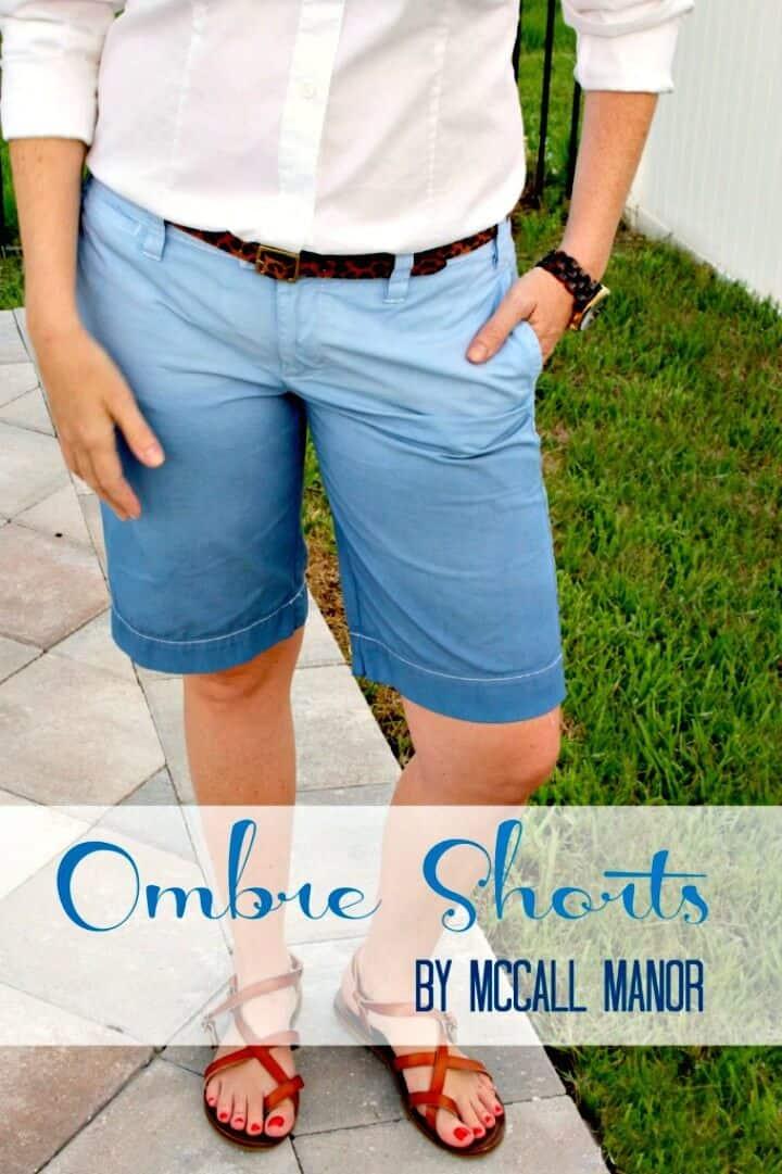 Pantalones cortos fáciles de bricolaje Ombre: atuendos para el verano