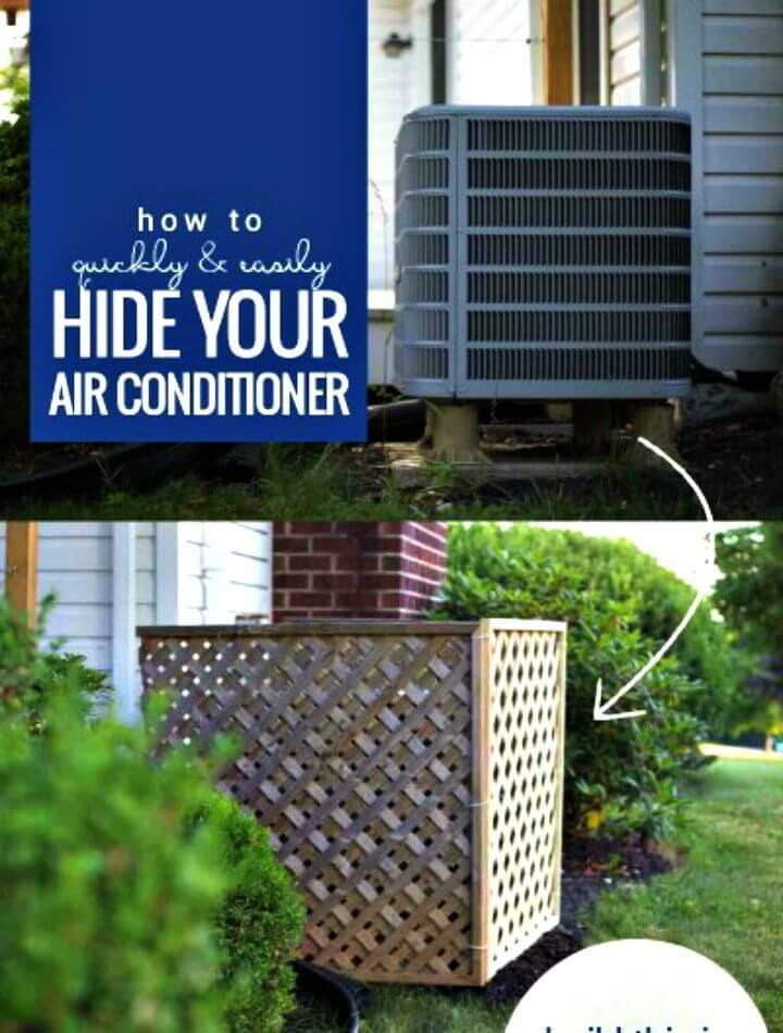 Cómo construir una pantalla de aire acondicionado para exteriores con celosía