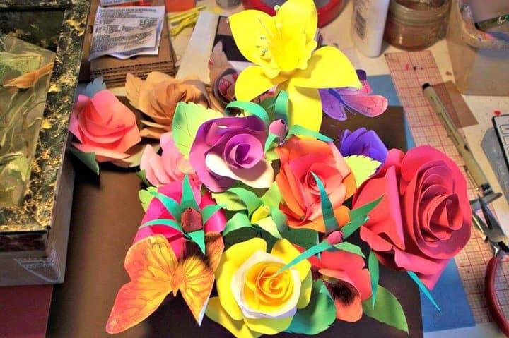 Haz tus propias rosas de papel - DIY