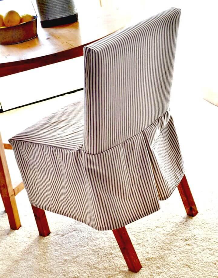Cómo hacer fundas para sillas Parson - DIY