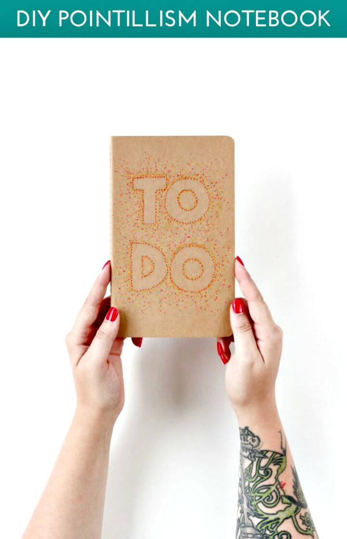 Crear portada de cuaderno de puntillismo