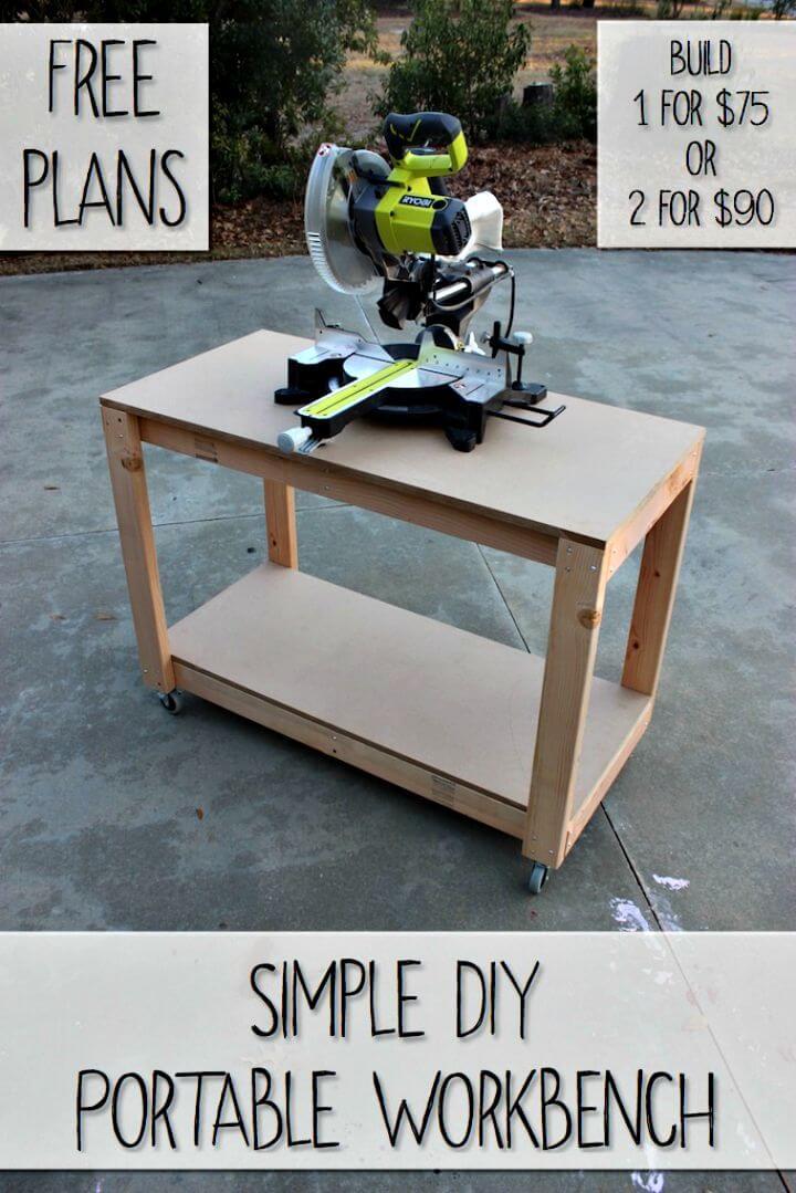 Tutorial fácil de cómo hacer bricolaje sobre un banco de trabajo portátil