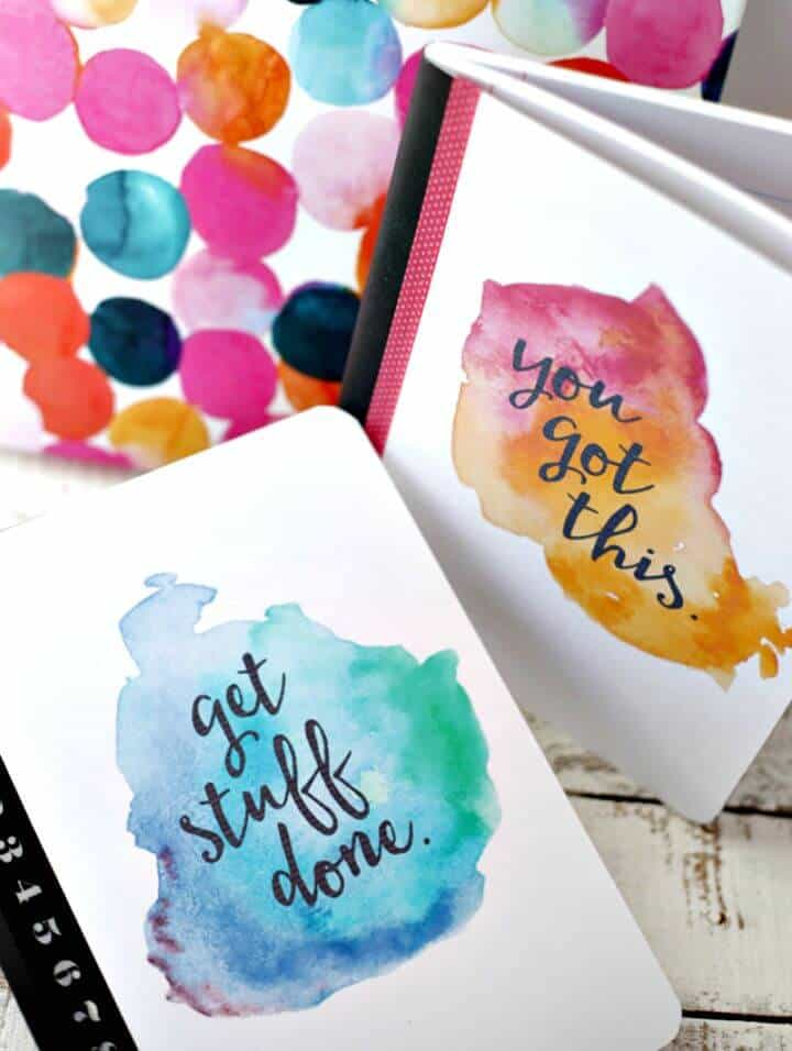 Cubiertas de cuaderno de acuarela imprimibles de bricolaje