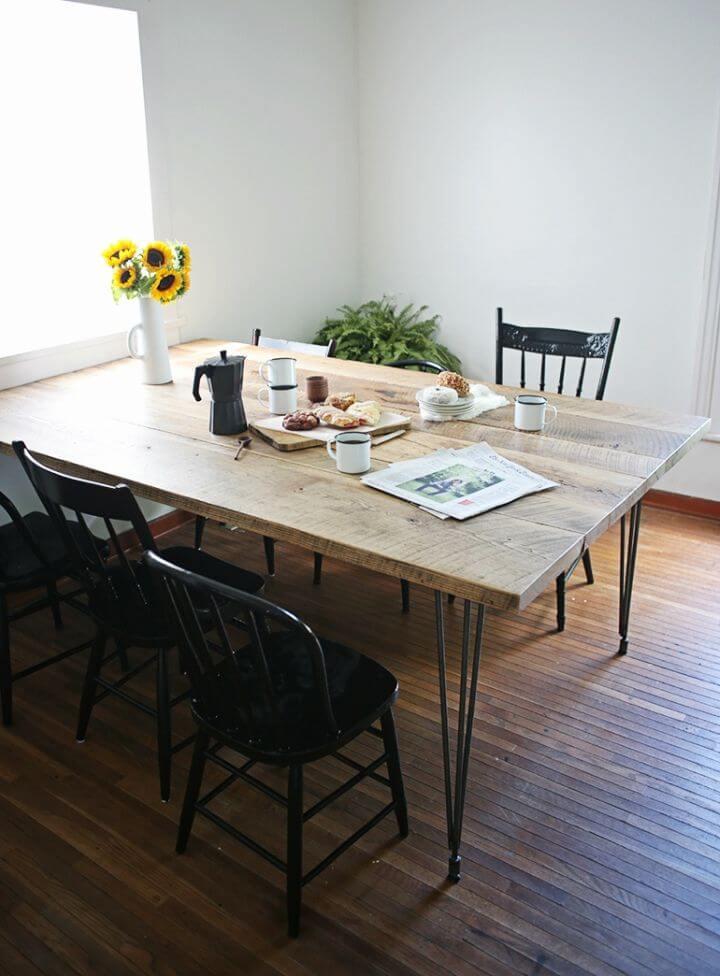 Mesa de madera recuperada fácil de bricolaje