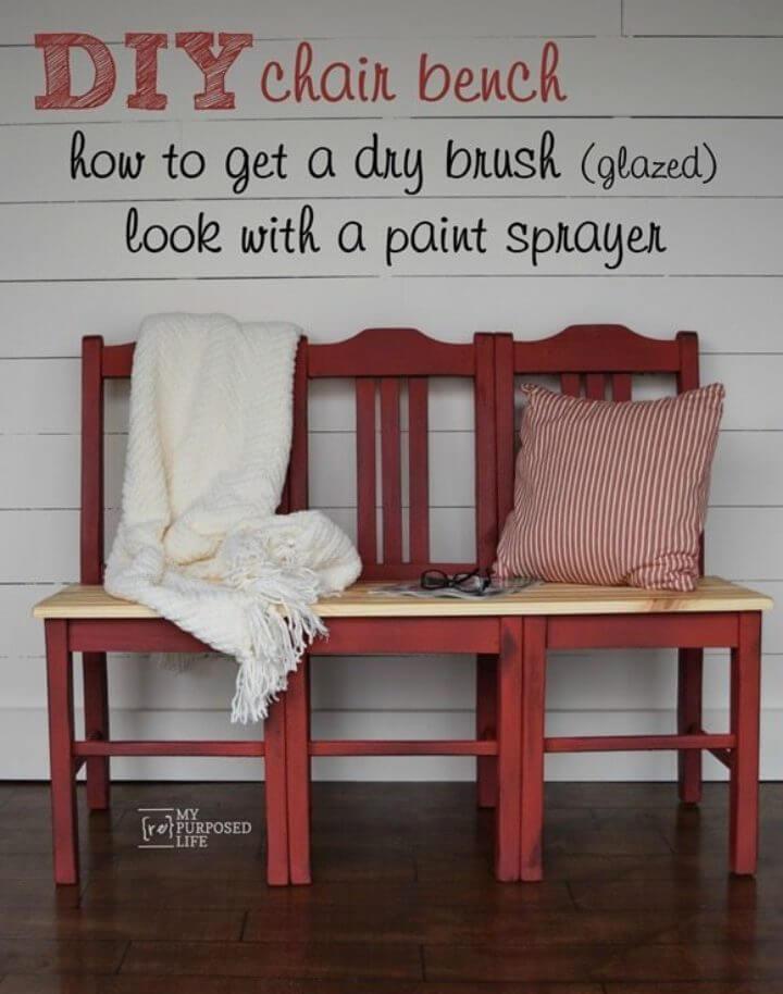 Banco de silla rojo Easy DIY