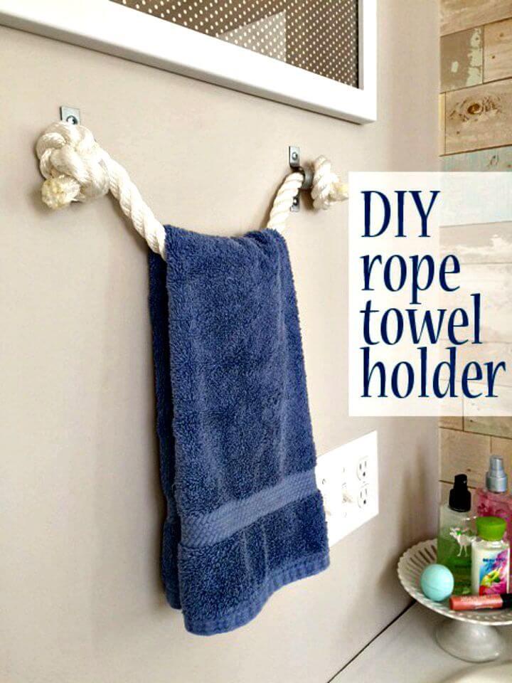 Soporte de toalla de cuerda fácil de bricolaje