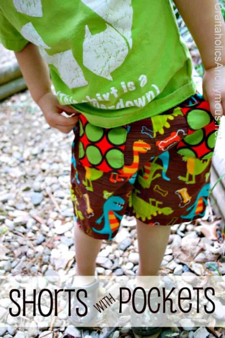 Pantalones cortos de bricolaje fáciles con bolsillos para niños