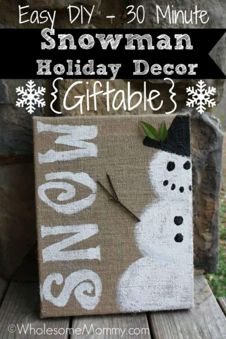 Decoración navideña de muñeco de nieve fácil de bricolaje
