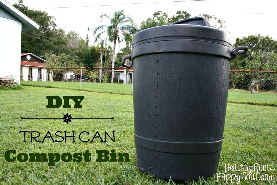 Idea fácil del cubo de compostaje del bote de basura de bricolaje
