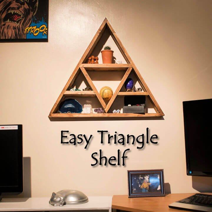 Estante triangular fácil de bricolaje