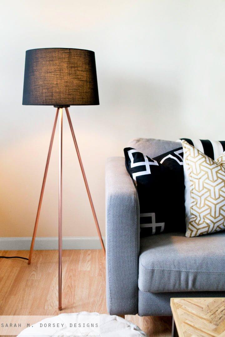 Lámpara de pie Easy DIY Tripod