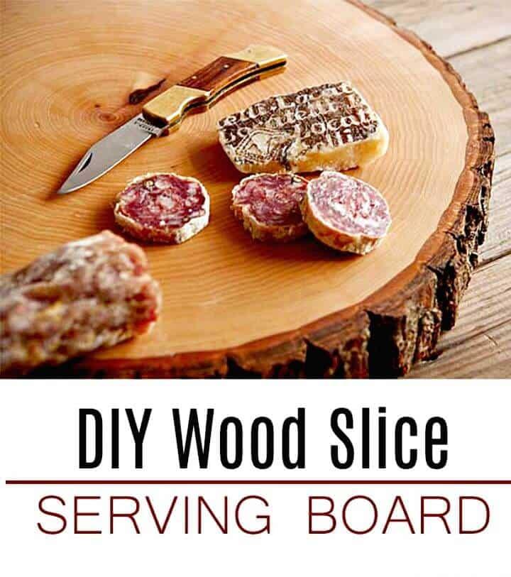 Construir tabla de servir de rebanada de madera
