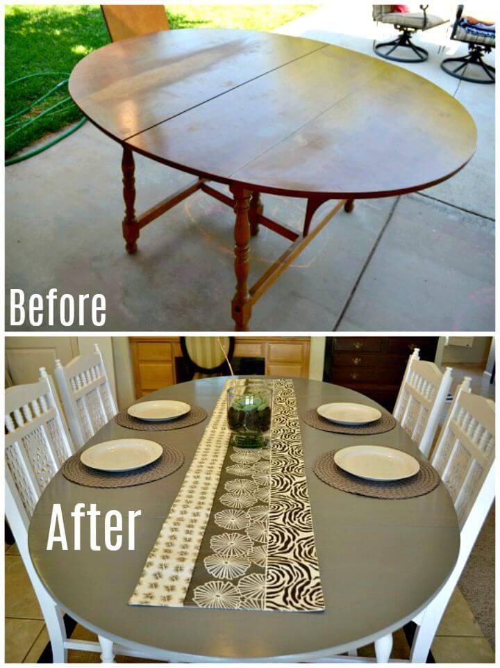 Renovación fácil de la mesa de comedor DIY - Tutorial gratuito
