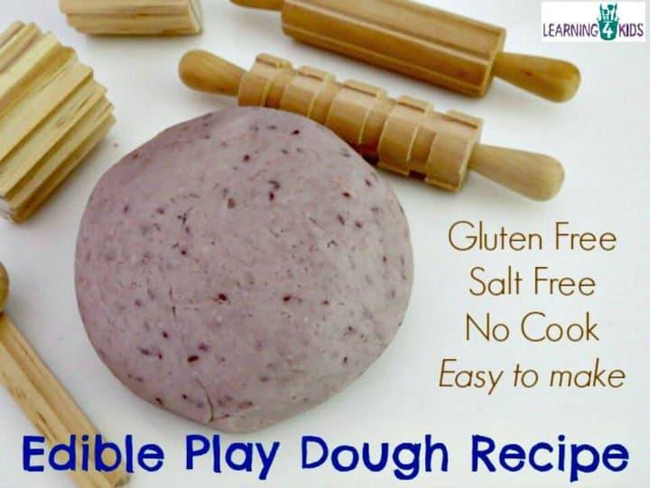 Receta de plastilina comestible para bebés