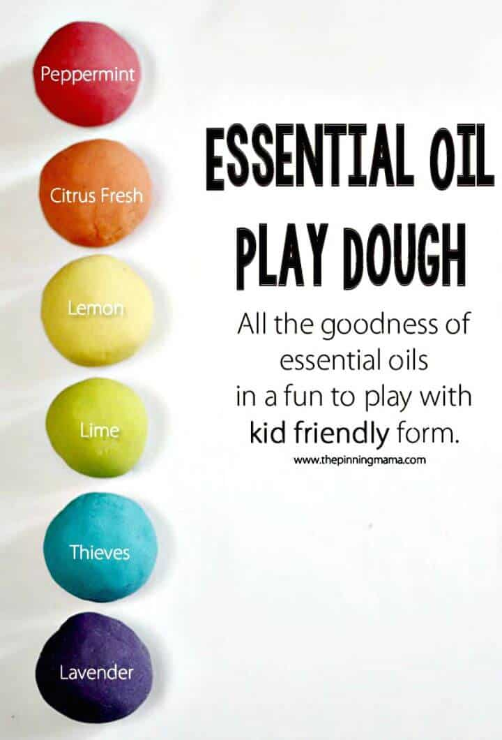 Receta de plastilina con aceites esenciales