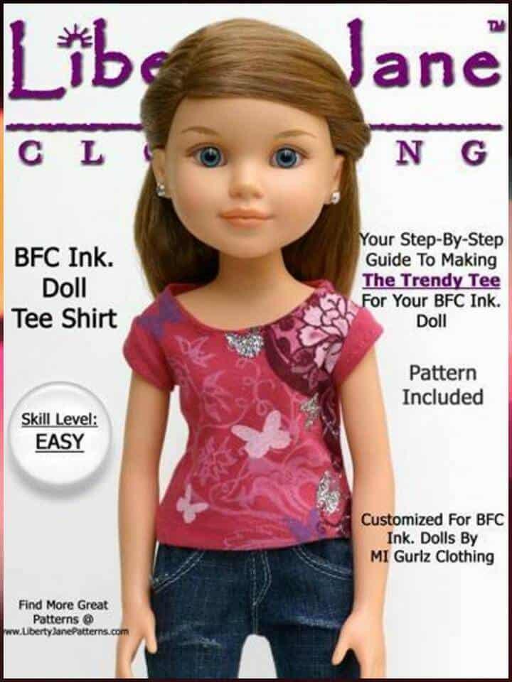 camiseta fácil y gratuita para muñecos grandes de tinta BFC