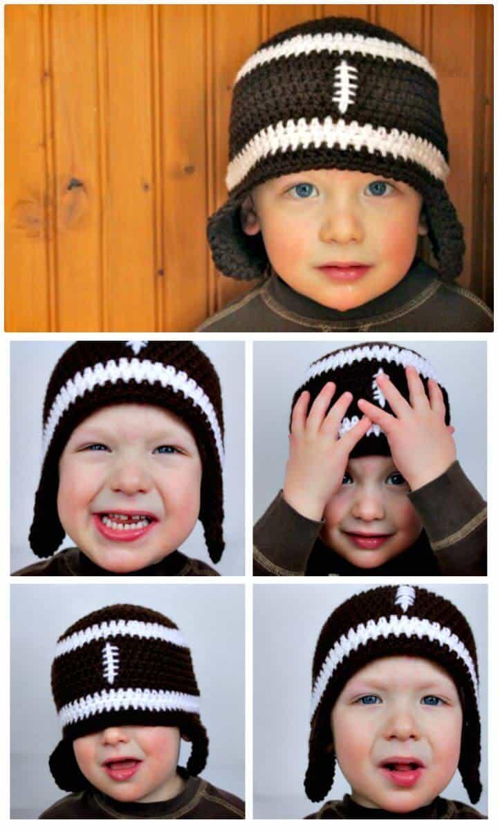 Cómo tejer una gorra de fútbol a crochet - Patrón gratuito