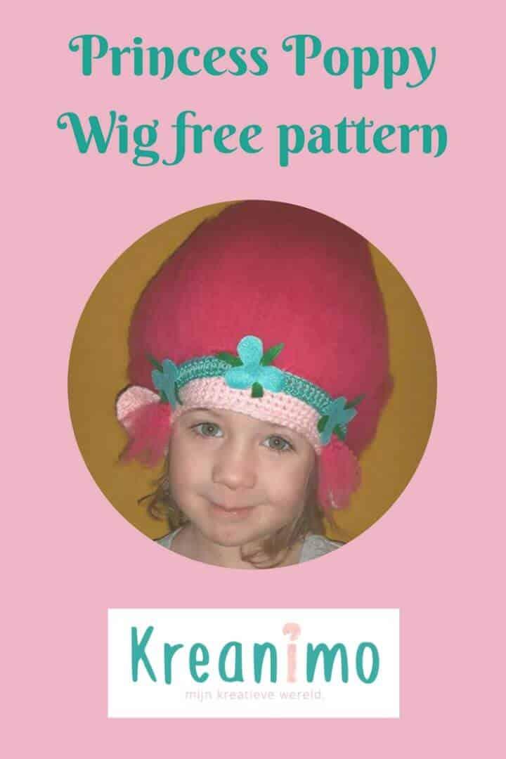 Patrón de sombrero de princesa amapola de ganchillo gratis
