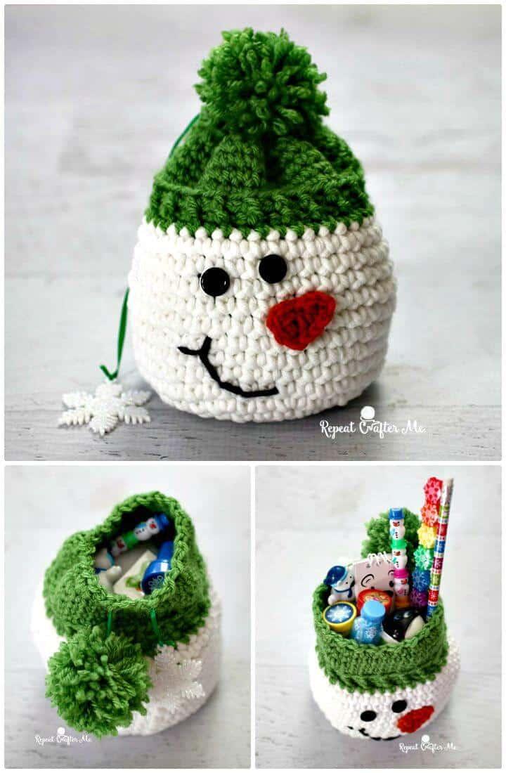 Saco de muñeco de nieve con rellenos de calcetín de Oriental Trading Pattern