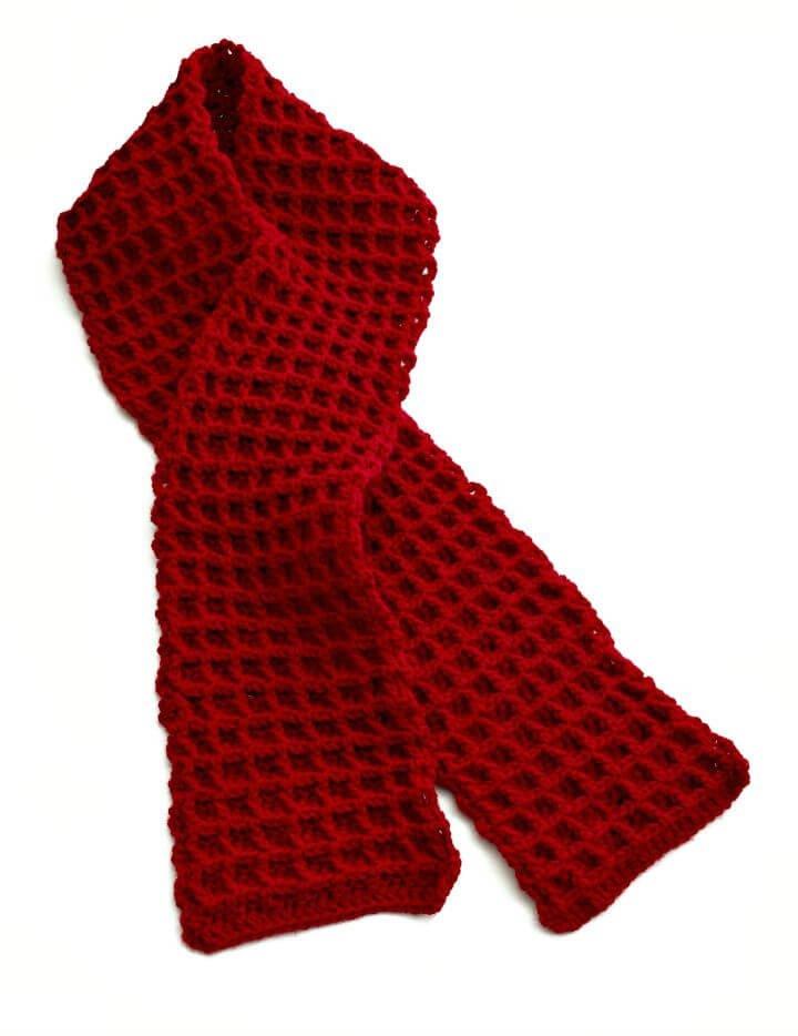 Cómo tejer una bufanda de punto de gofre en crochet - Patrón gratuito