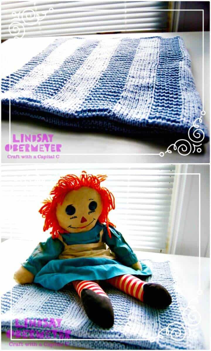Patrón de manta de bebé fácil de tejer gratis