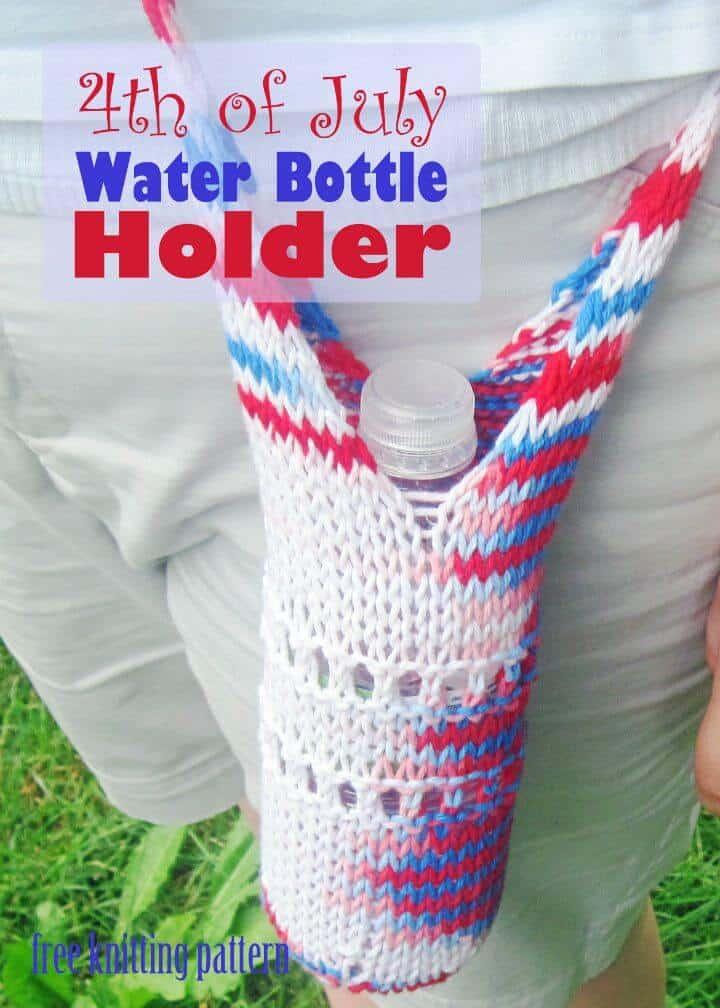 Patrón de soporte de botella de agua de tejer gratis