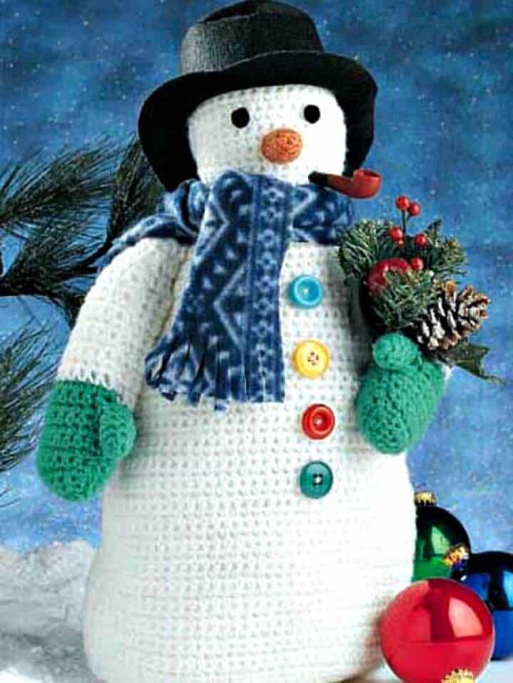 Patrón de ganchillo gratis Frosty el muñeco de nieve